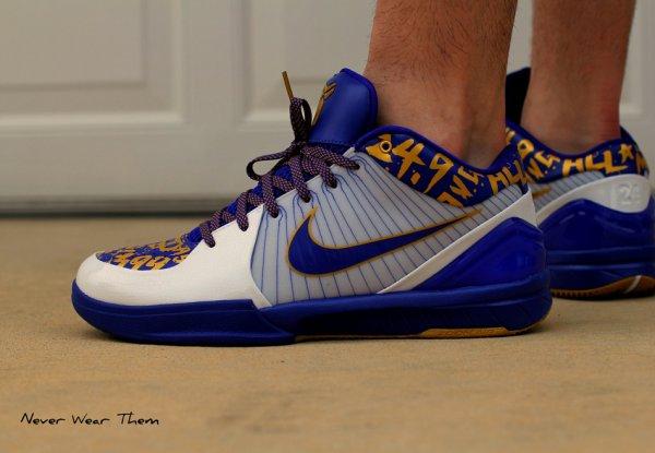 Nike Kobe 4 Finals NBA Home - Never Wear Them