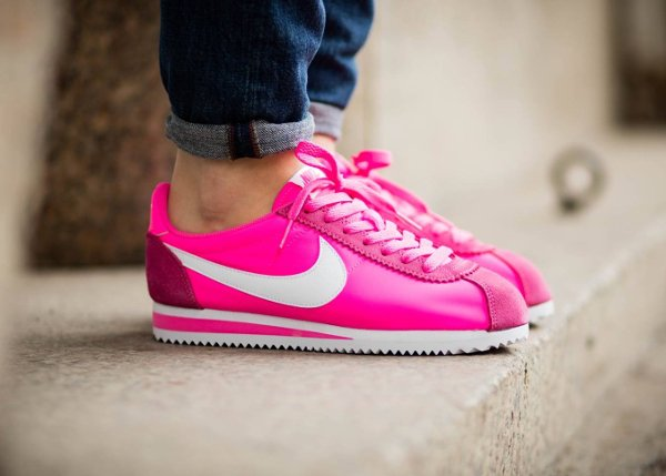 buy online f5d36 41c21 ... Nike Wmns Classic Cortez Nylon Pink Blast rose