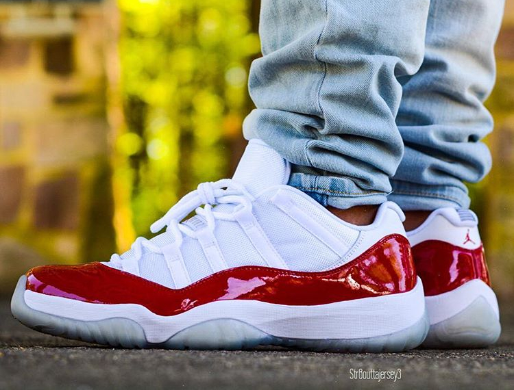 Air Jordan 11 Low Retro Cherry 2016 (4)