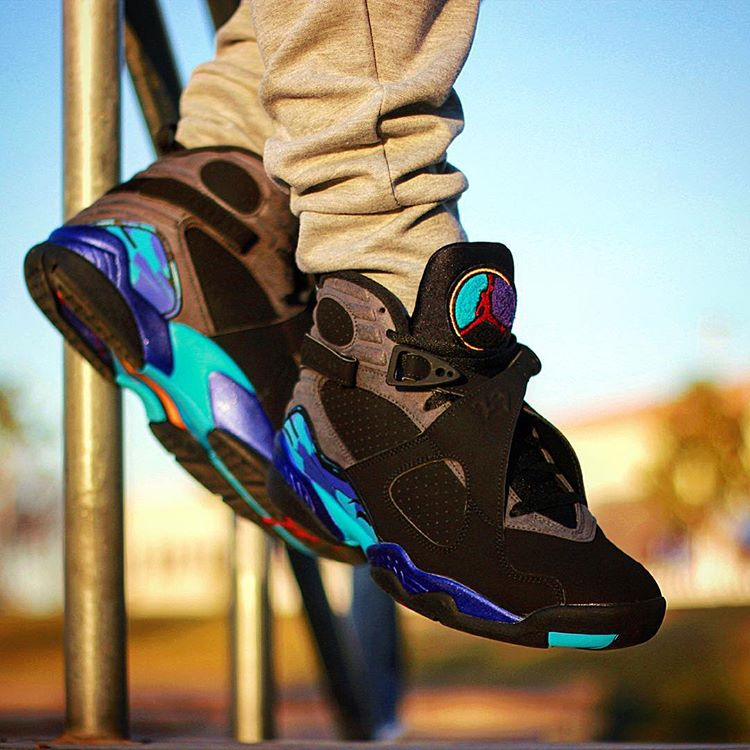 Air Jordan 8 Retro Aqua - @sabio_pr
