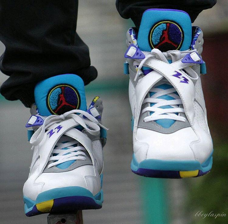 Air Jordan 8 Retro Aqua Tone - @bboylaspin (3)