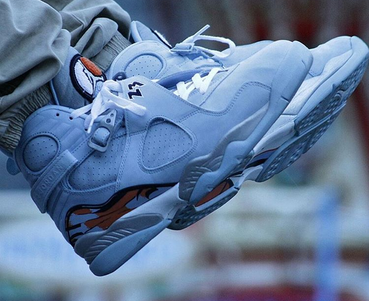 Air Jordan 8 Retro Ice Blue - @bboylaspin