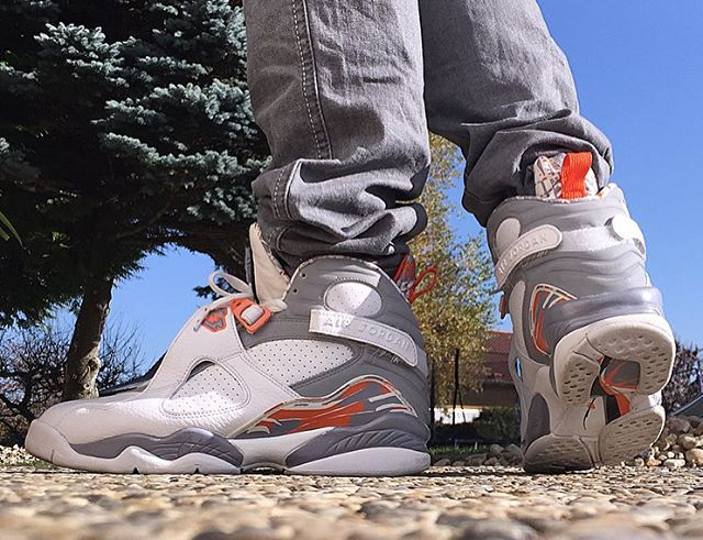 Air Jordan 8 Retro Orange Blaze - @fabo_oh