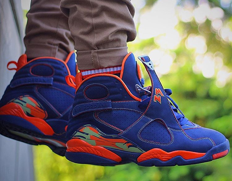 Air Jordan 8 Retro Pea Pod - @freaky.sneaks (1)