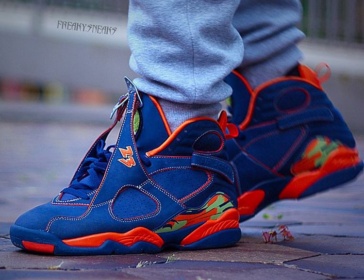 Air Jordan 8 Retro Pea Pod - @freaky.sneaks (2)