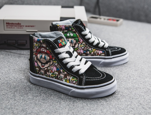 Basket Nintendo Vans Sk8 Hi Zip Super Mario World (enfant) (2)