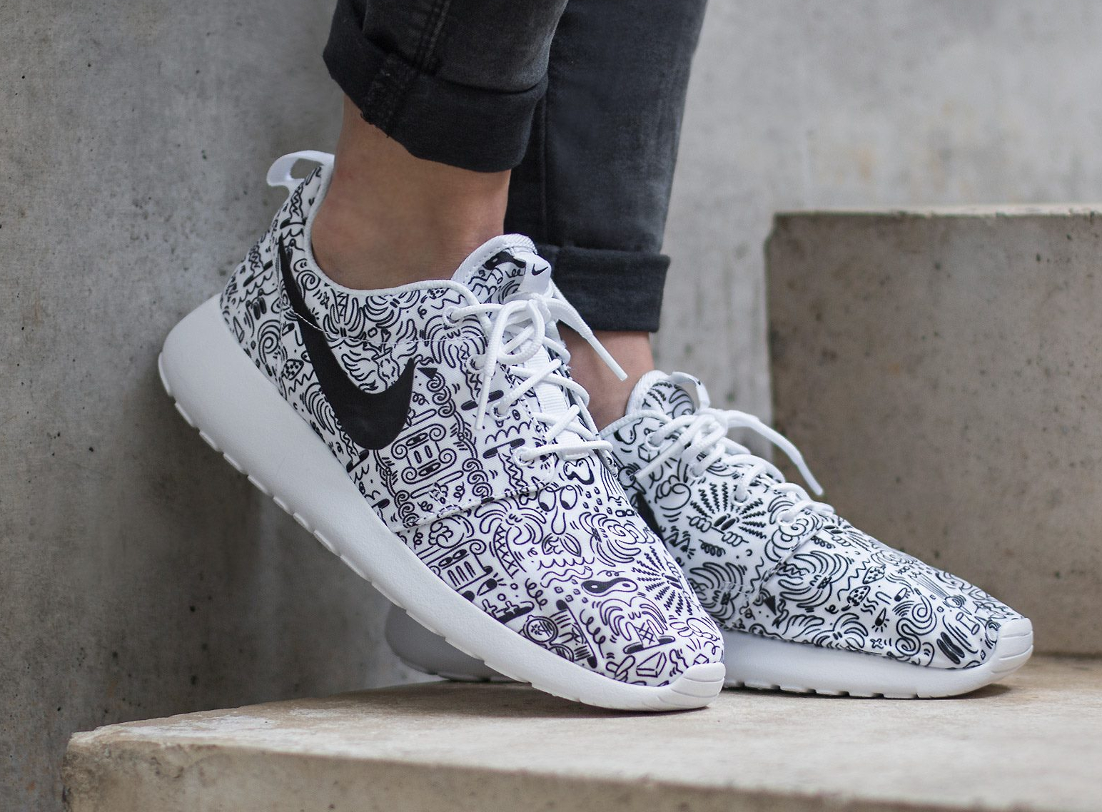 Basket Steven Harrington x Nike Roshe Run Print 'Doodle' (2)