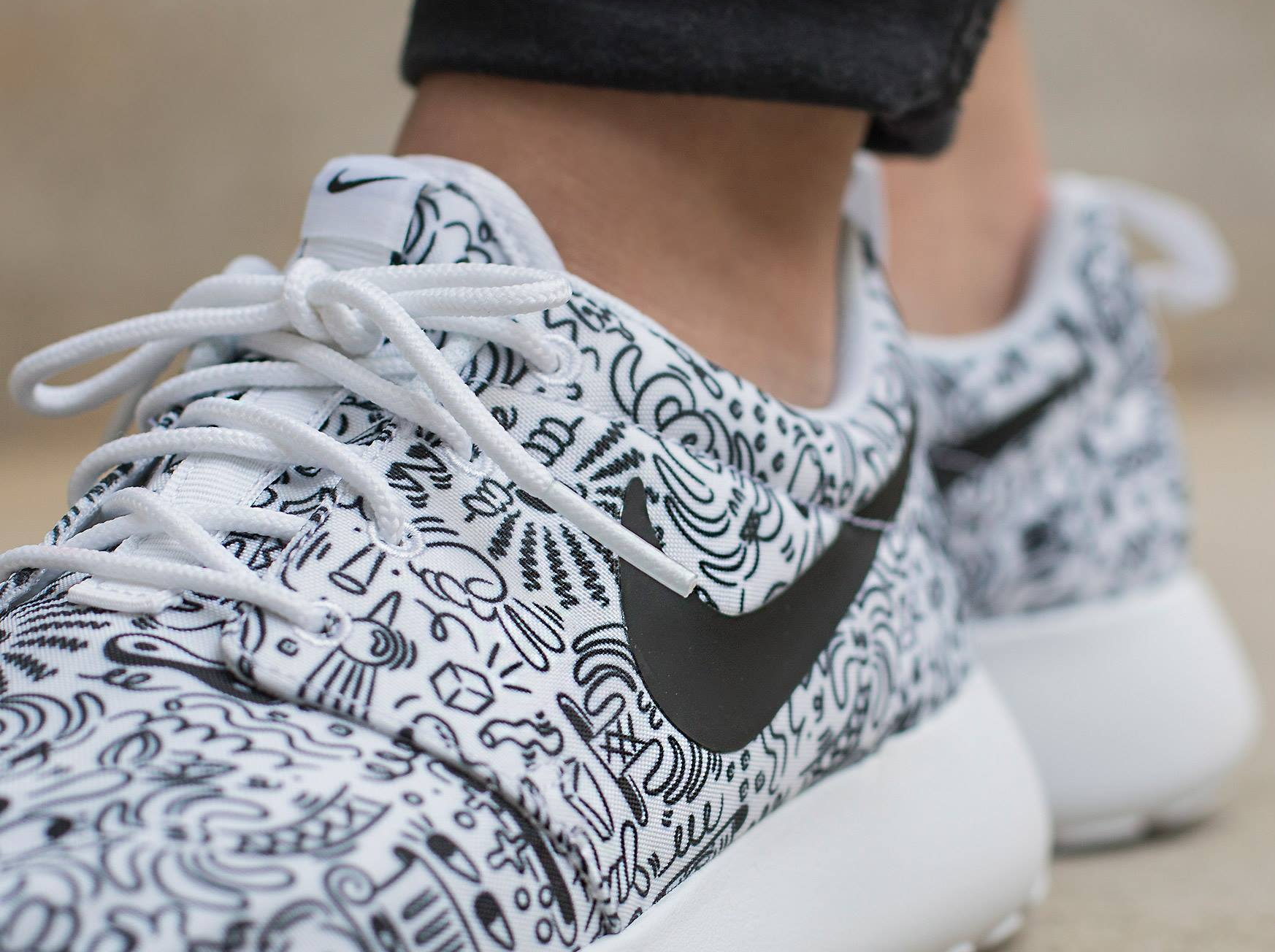 Basket Steven Harrington x Nike Roshe Run Print 'Doodle' (3)