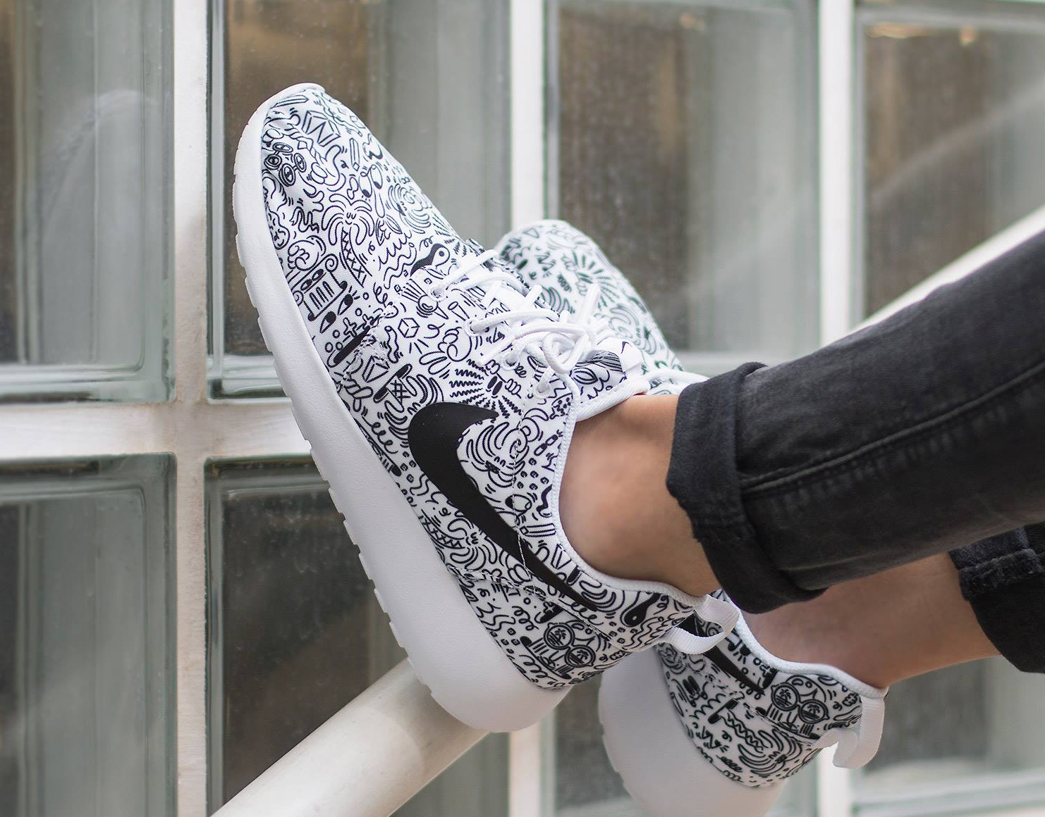 Basket Steven Harrington x Nike Roshe Run Print 'Doodle' (5)
