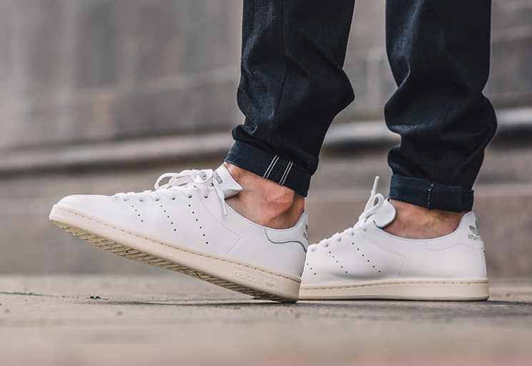 Adidas Stan Smith Leather Sock Vintage 'White' (homme & femme)