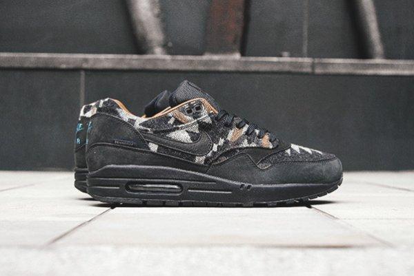 Nike Air Force Noir Vinyle derrière réfléchissant