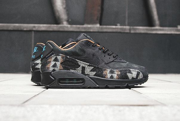 Chaussure Nike Air Max 90 QS 'Pendleton' Black Ale Brown (1)