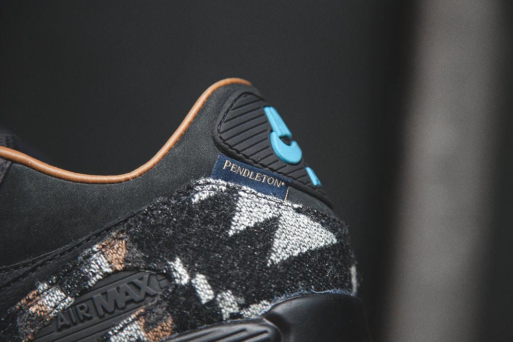 Chaussure Nike Air Max 90 QS 'Pendleton' Black Ale Brown (2)