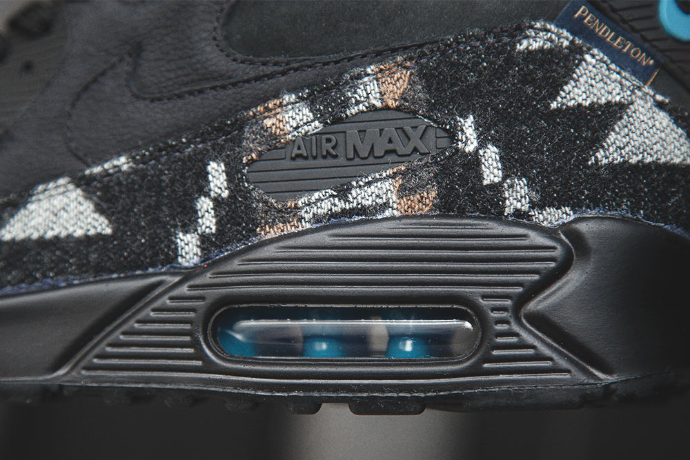 Chaussure Nike Air Max 90 QS 'Pendleton' Black Ale Brown (4)