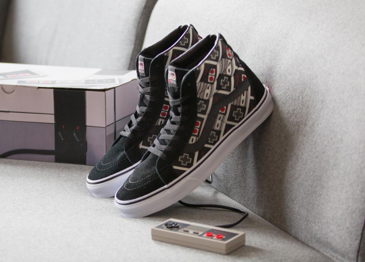 acheter Chaussure Nintendo x Vans SK8 Hi Reissue manette Nes 8 Bits (1)