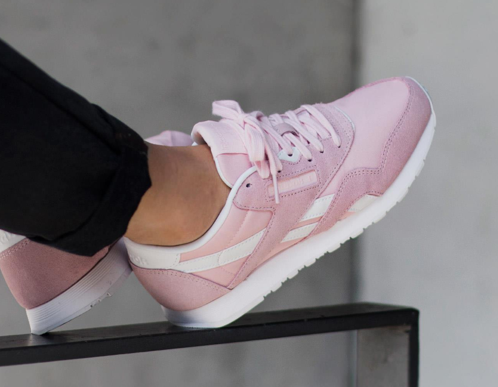 Chaussure Reebok Classic Nylon SP Porcelain Pink rose (femme) (5)