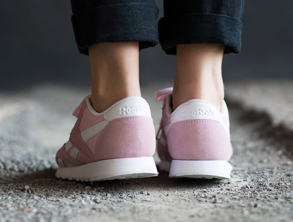 Chaussure Reebok Classic Nylon SP Porcelain Pink rose (femme) (6)