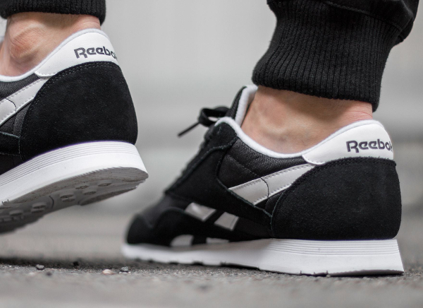 black white reebok
