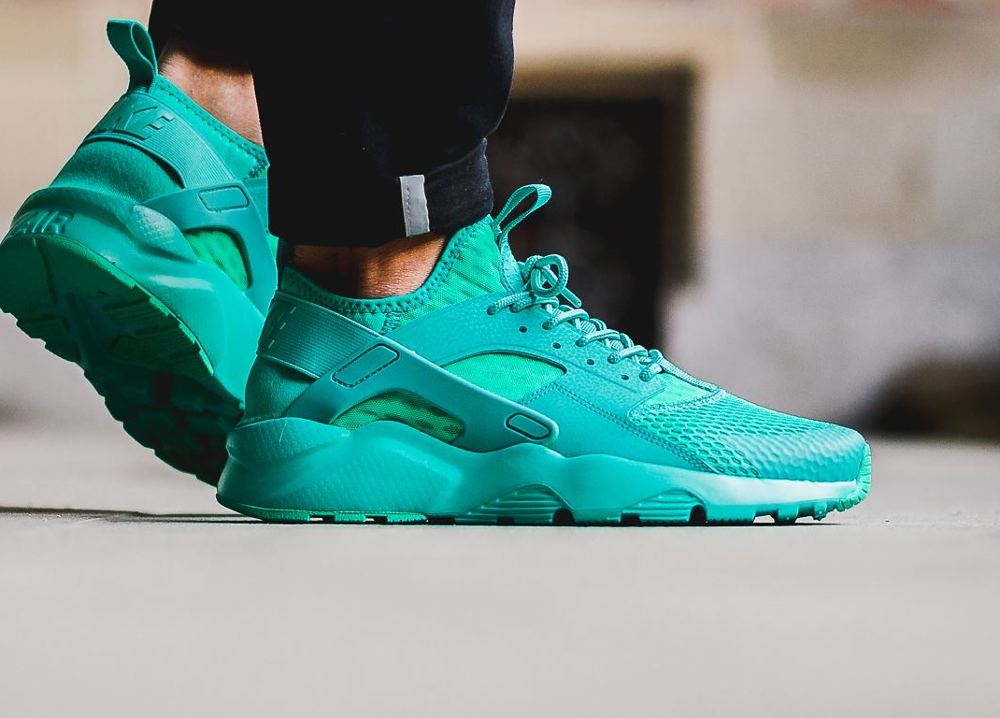Nike Air Huarache Ultra Breathe vert turquoise en soldes pas cher
