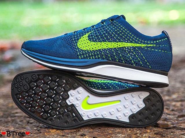 Nike Flyknit Racer Brave Blue (4)