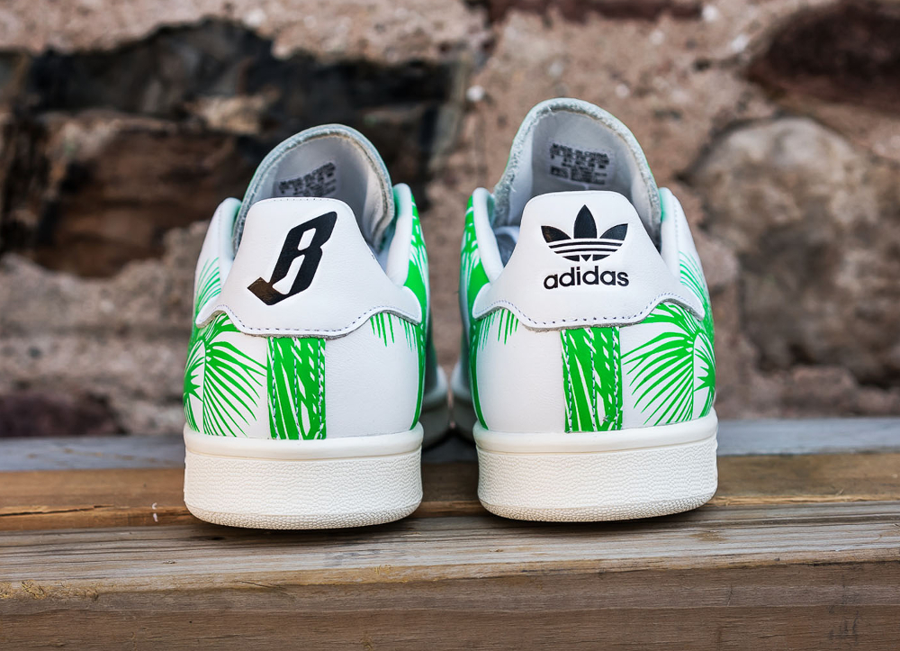PH x BBC x Adidas Stan Smith Vivid Green (feuilles de palmier) (6)