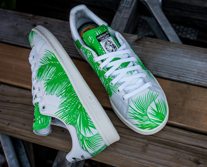 PH x BBC x Adidas Stan Smith Vivid Green (feuilles de palmier) (8)