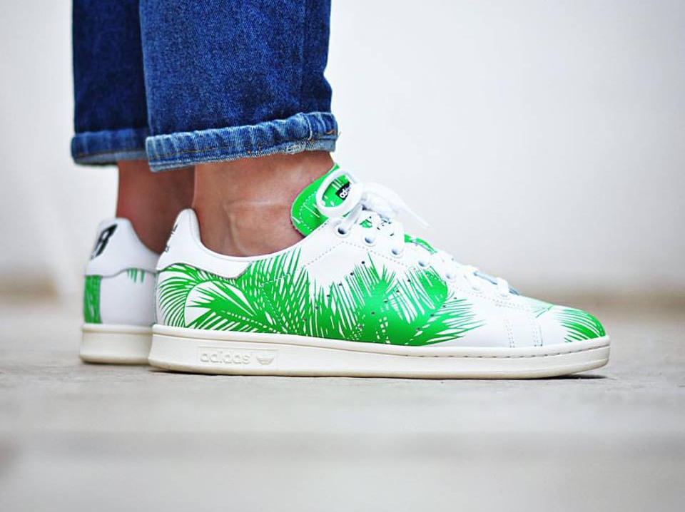 Pharrell Williams x BBC x Adidas Stan Smith 'Palm Tree' White Vivid Green