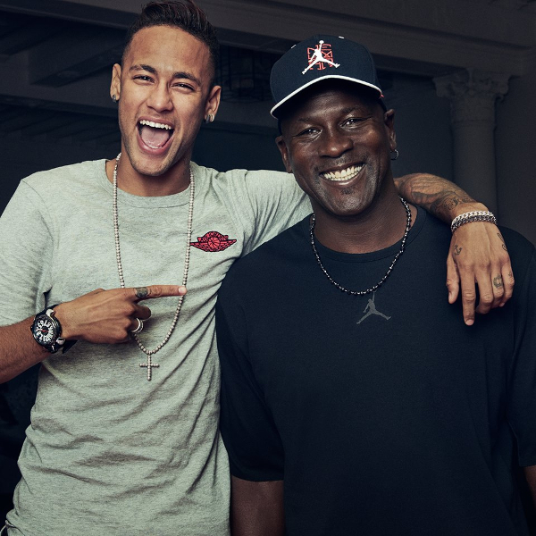 Photo Neymar JR et Michael Jordan