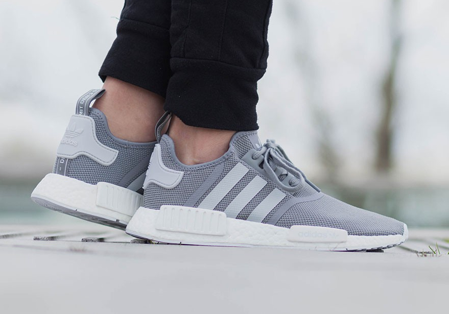 sélection premium b6c13 30d21 Adidas NMD R1 Boost Mesh 'Tech Steel, Solid Grey & Core Black'
