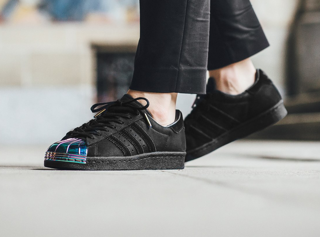 Adidas Superstar 80's W Black Suede 'Iridescent Metal Toe'