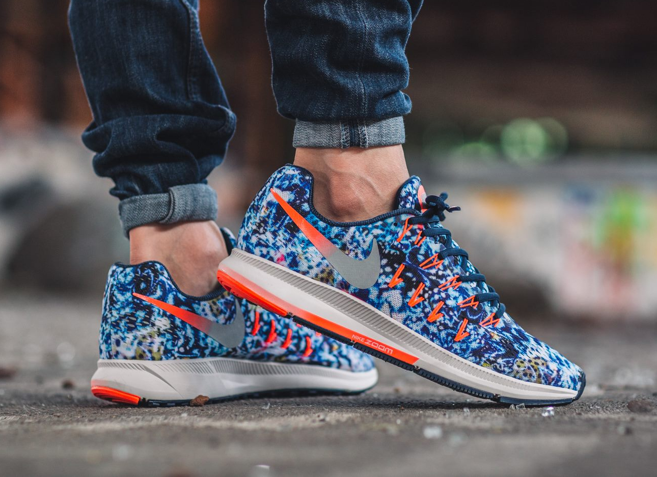 acheter basket Nike Air Zoom Pegasus 33 'Jungle' Midnight Navy Reflective (3)