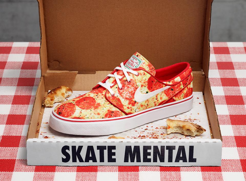acheter basket Skate Mental x Nike SB Janoski 'Pepperoni Pizza'