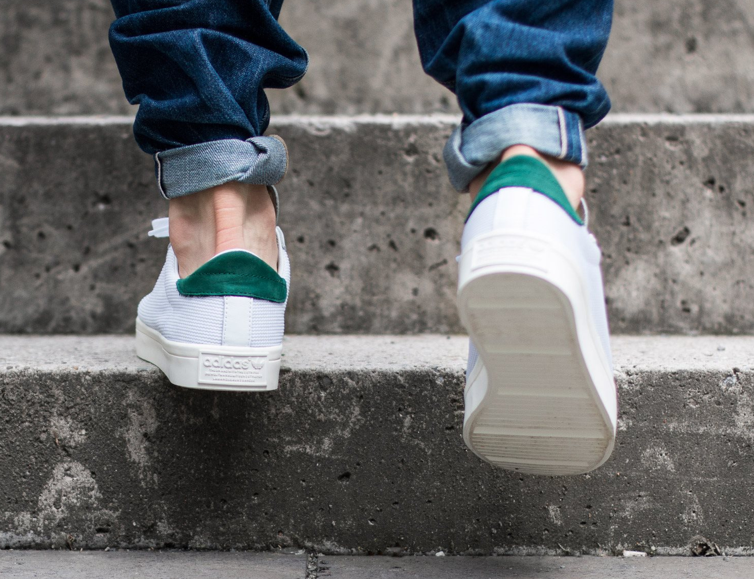 Adidas Court Vantage Vintage White Gold Green