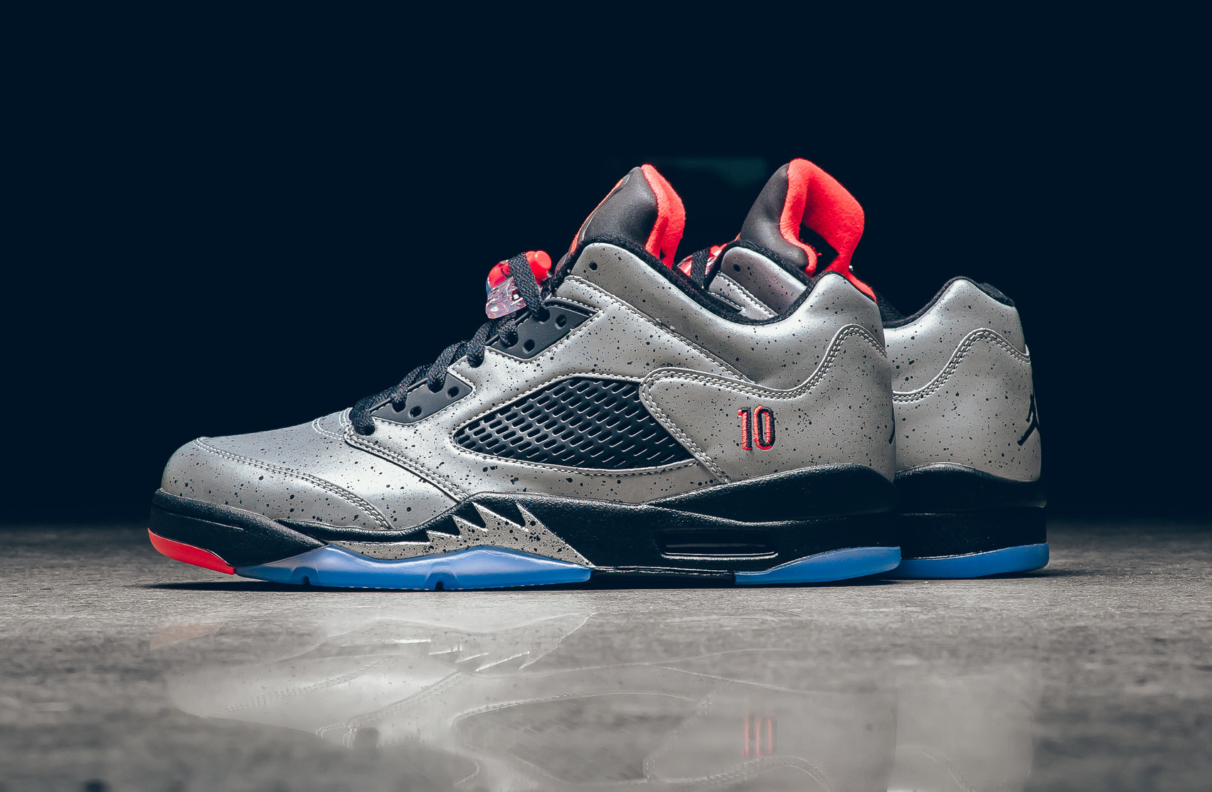 acheter chaussure Air Jordan 5 Retro Low 'Neymar Jr' (Reflective Silver Infrared 23) (1-1)