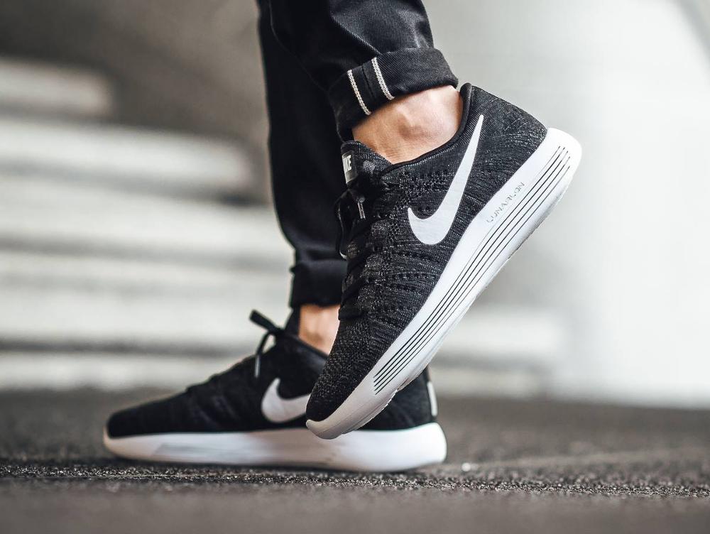 acheter chaussure Nike Lunarepic Low Flyknit Black White (3)