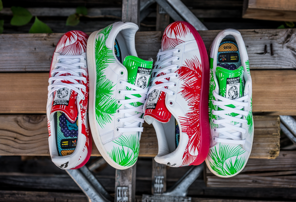 acheter chaussure Pharrell Williams x BBC x Adidas Stan Smith 'Palm Tree'