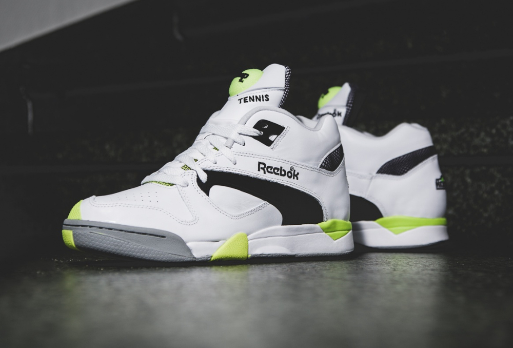 chaussure RReebok Court Victory Pump 'Solar Yellow' (2)
