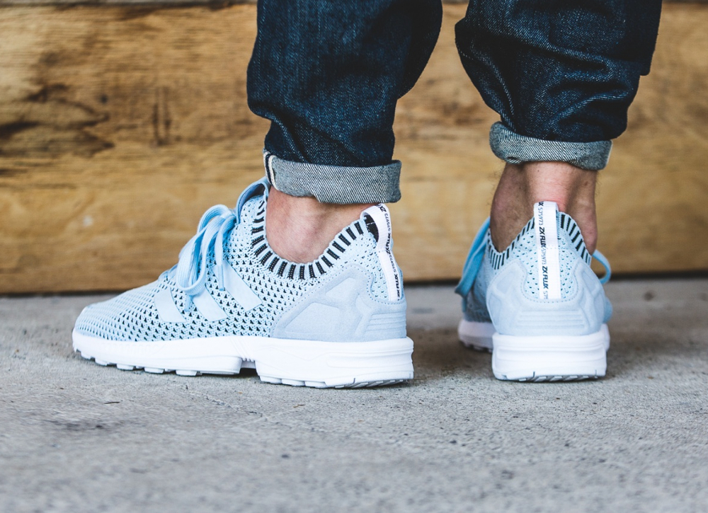 Adidas ZX Flux Primeknit Ice Blue (2)