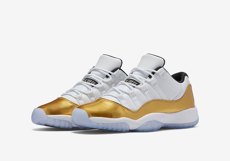 Air Jordan 11 Retro Low Metallic Gold