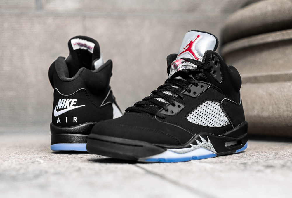 Basket Air Jordan 5 Retro OG Black Metallic Silver 2016 (1)