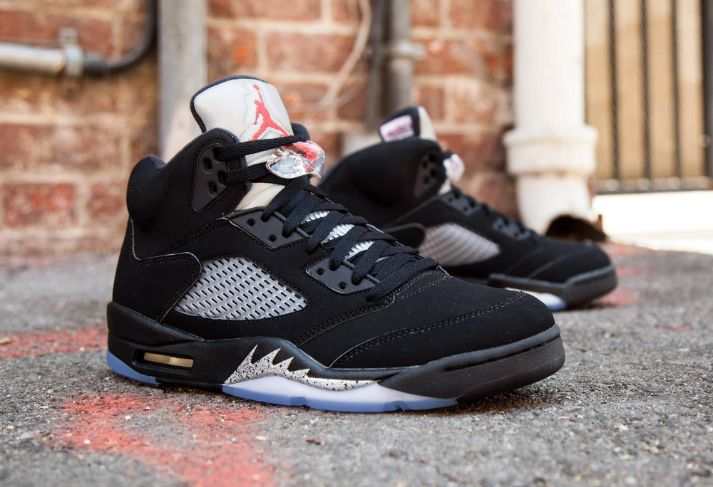 Basket Air Jordan 5 Retro OG Black Metallic Silver 2016 (2)