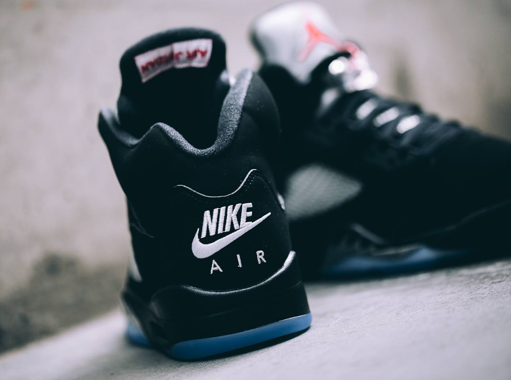 Basket Air Jordan 5 Retro OG Black Metallic Silver 2016 (5)
