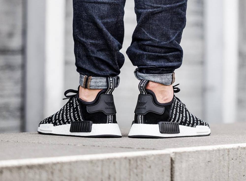 Chaussure Adidas NMD R_1 Blackout (la marque aux 3 bandes) (2)