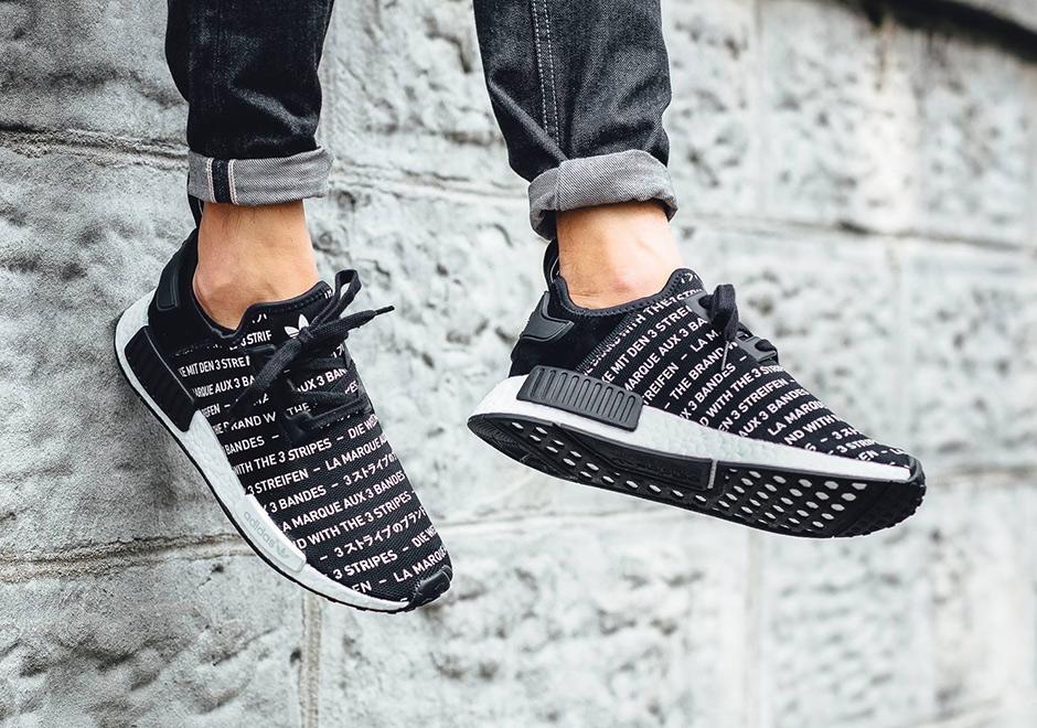 Chaussure Adidas NMD R_1 Blackout (la marque aux 3 bandes) (6)