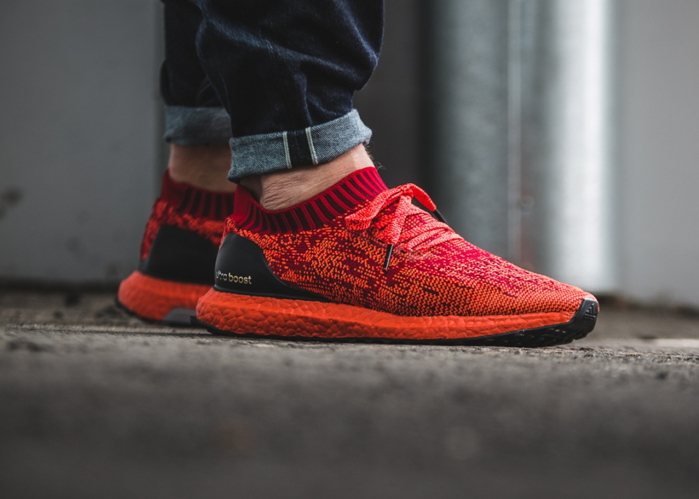 Chaussure Adidas Ultra Boost Uncaged LTD Scarlet Solar Red (rouge) (1-1)