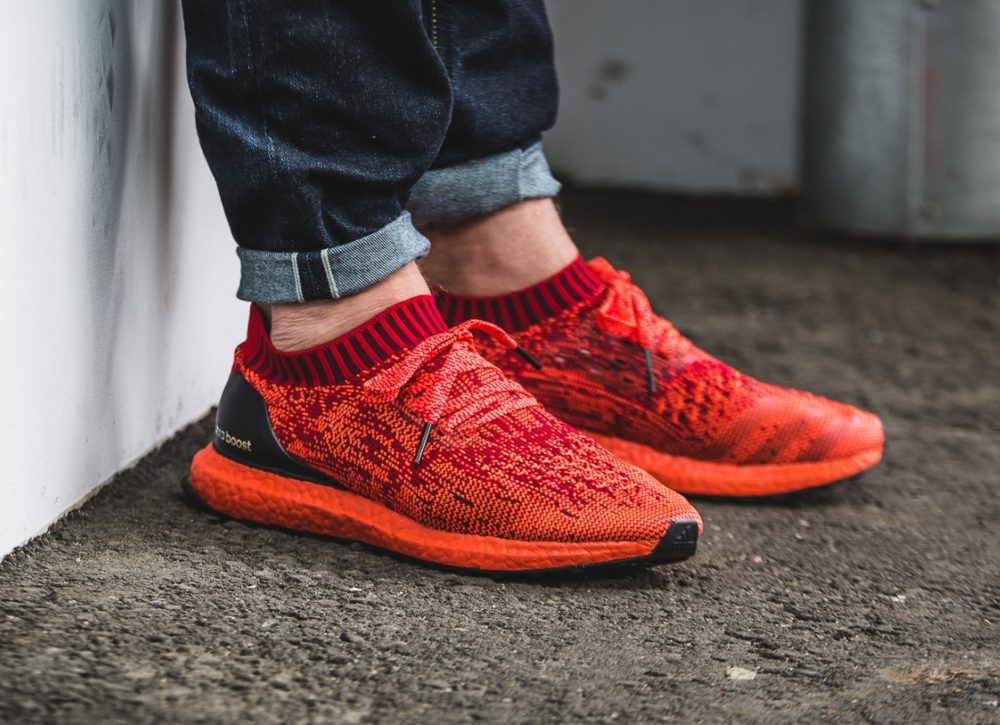 Chaussure Adidas Ultra Boost Uncaged LTD Scarlet Solar Red (rouge) (1-2)