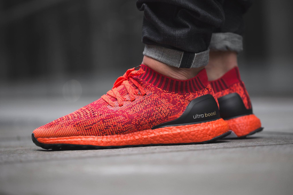 Chaussure Adidas Ultra Boost Uncaged LTD Scarlet Solar Red (rouge) (1)
