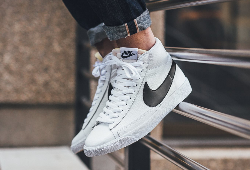 Chaussure Nike Blazer Mid Retro PRM 'OG 2016' White Black (2)