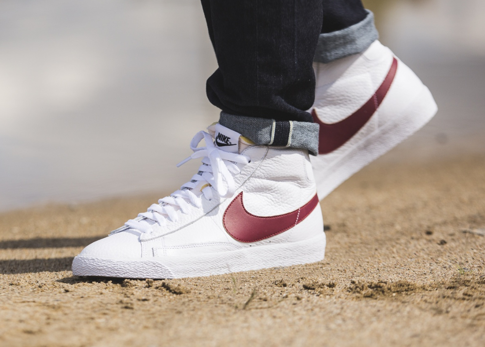 Chaussure Nike Blazer Mid Retro PRM 'OG 2016' White Team Red (3-1)