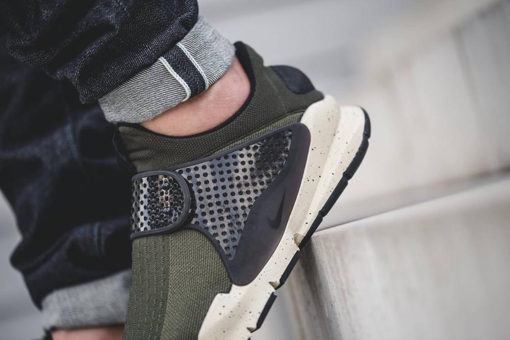 Chaussure Nike Sock Dart SE Cargo Khaki (vert olive) (2)